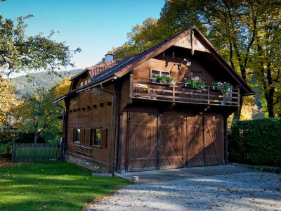 Ferienhaus Fuhrwerkhaus - Blick auf den Balkon - Bergpfoten